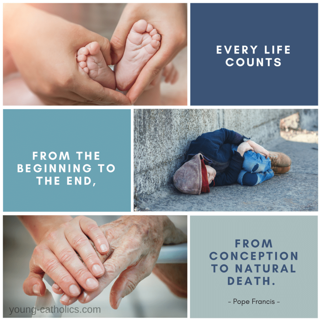 Every life counts: from the beginning to the end, from conception to natural death. - Pope Francis