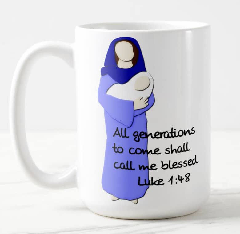 Blessed Virgin Mary Coffee Cup