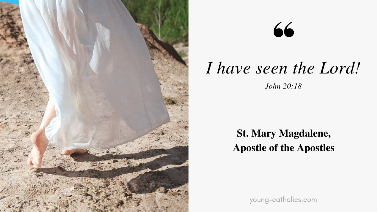 """Mary Magdalene went and announced to the disciples, """"I have seen the Lord,"""" and then reported what he told her."""