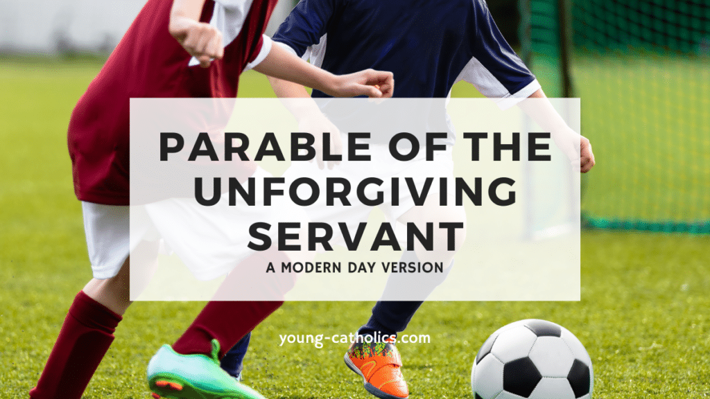 This modern day version of the parable of the unforgiving servant uses soccer to explain the parable to youth.