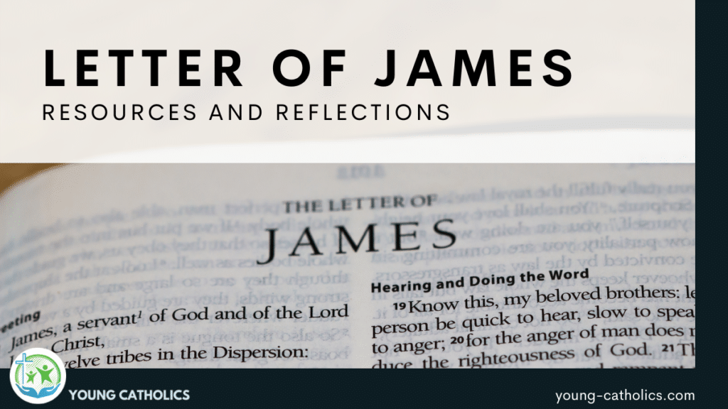 An image of a bible open to the Letter of James.