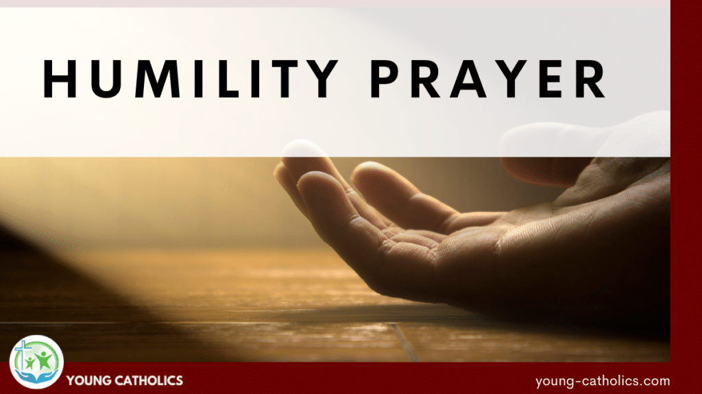 An open hand, indicating the humble approach of this humility prayer.